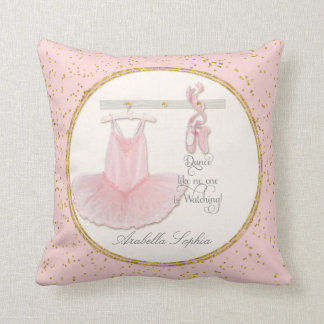 Personalized Girl Room Ballet Ballerina Dance Tutu Throw Pillow