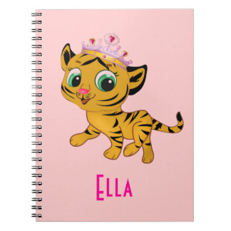 Personalized Girl Tiger Princess Tigress Notebook