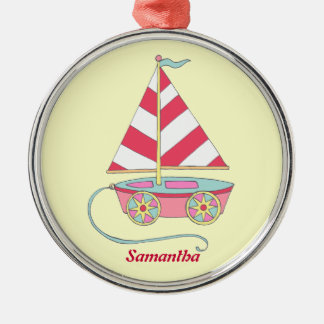 Personalized Girl Toy Sailboat Ornament