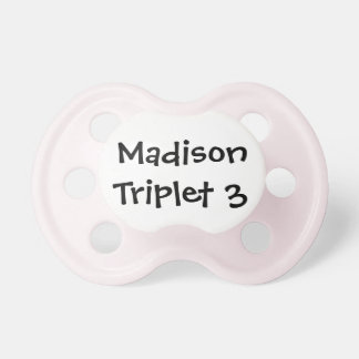 Personalized Girl Triplet Pacifier