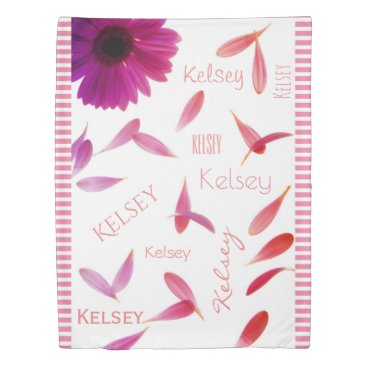 think_out_loud Personalized Girlie Duvet Cover