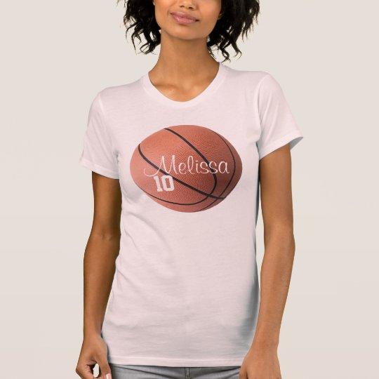 Personalized Girls Basketball T-Shirt