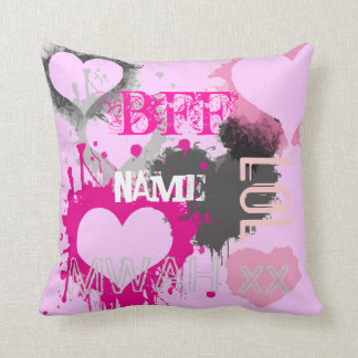 Personalized Girls BFF Best friends forever Pillows