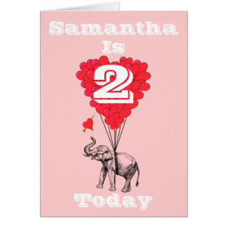 Personalized girls Birthday Card