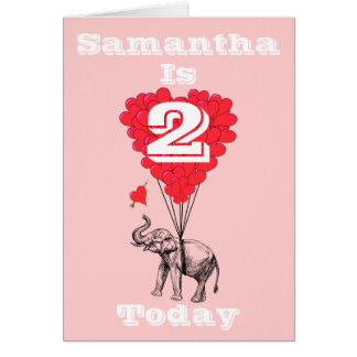Personalized girls Birthday Card