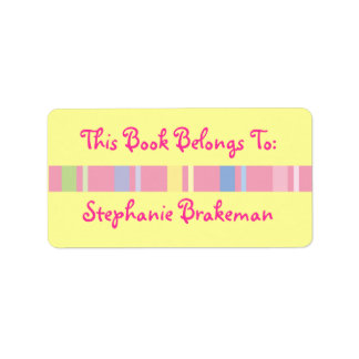 Personalized Girls Bookplate Library Stickers