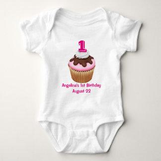 Personalized Girl's Cupcake Birthday Tshirt
