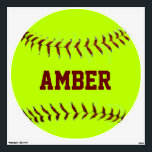 """Personalized Girls Fastpitch Softball Wall Decal<br><div class=""""desc"""">Change the name for the softball player who will love this decal.</div>"""