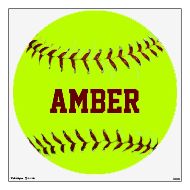 Personalized Girls Fastpitch Softball Wall Decal | Zazzle