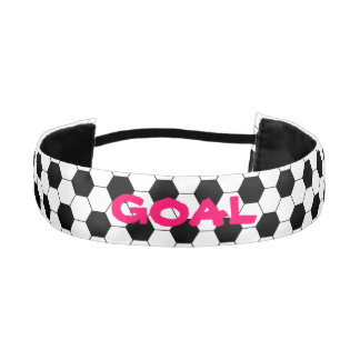 Personalized Girl's Football Soccer Ball Pattern Athletic Headband