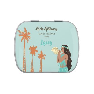 Personalized Girls Getaway Hawaiian Candy Tin