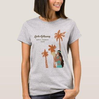Personalized Girls Getaway Hawaiian T-Shirt