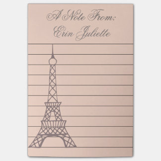 Personalized Girl's Post It Note Eiffel Tower Gift