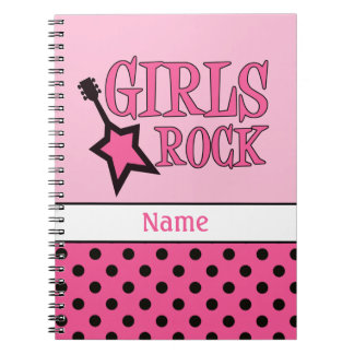 Personalized Girls Rock Notebook