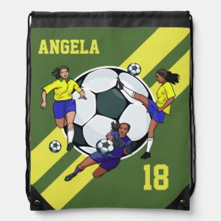 Personalized Girls Soccer cleats bag