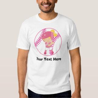 Personalized Girls Softball T Shirt
