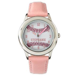 Personalized Girl's Softball Watch