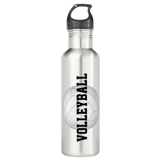 personalized girls' volleyball stainless steel water bottle