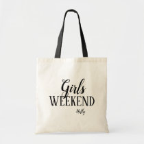 Personalized Girls Weekend Tote Bag