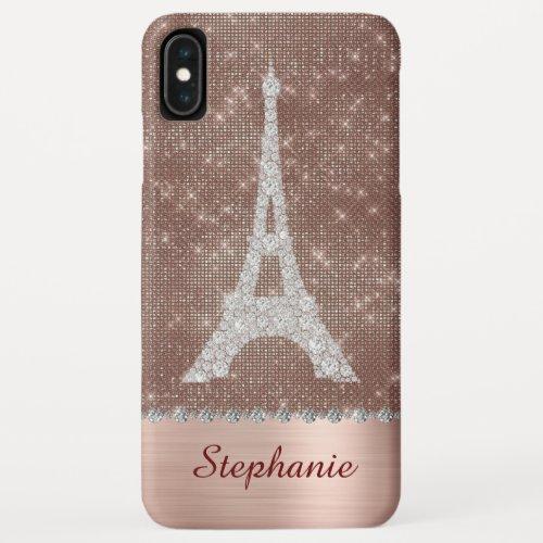 Personalized Girly Paris Diamond Rose Gold Phone Case