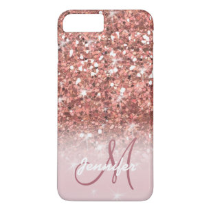 hot sale online 02d97 237fe Personalized Girly Rose Gold Glitter Sparkles Name iPhone 8 Plus/7 Plus Case