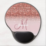 "Personalized Girly Rose Gold Glitter Sparkles Name Gel Mouse Pad<br><div class=""desc"">Personalized Girly Rose Gold Glitter Sparkles Name Monogram Design Template. Further customize your font colors if you wish.</div>"