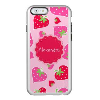 Personalized Girly strawberry hearts for lovers Incipio Feather Shine iPhone 6 Case