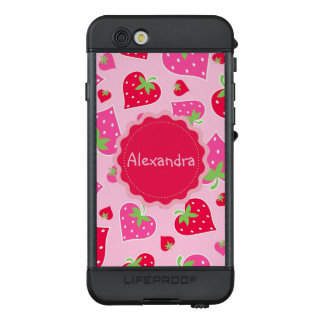 Personalized Girly strawberry hearts for lovers LifeProof NÜÜD iPhone 6s Case