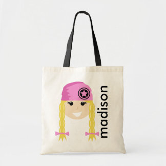 Personalized Girly Tote Bag