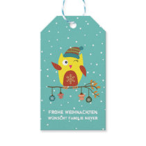 Personalized - glad Christmas - sweet owl Gift Tags