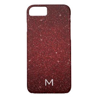 Personalized Glam Gold Red Carpet Velvet Glitter iPhone 8/7 Case