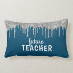 Personalized Glam Teacher Lumbar Pillow