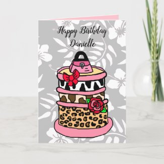 Personalized Glamorous Girlie Birthday Card