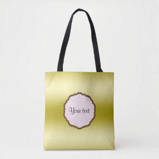 Personalized Glamorous Gold Tote Bag
