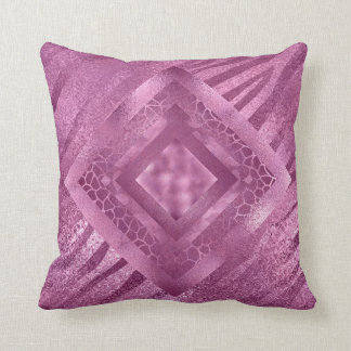 Personalized Glamour Pink Monogram Pillow