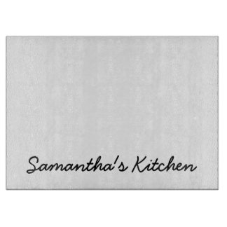 Personalized glass cutting board with custom text