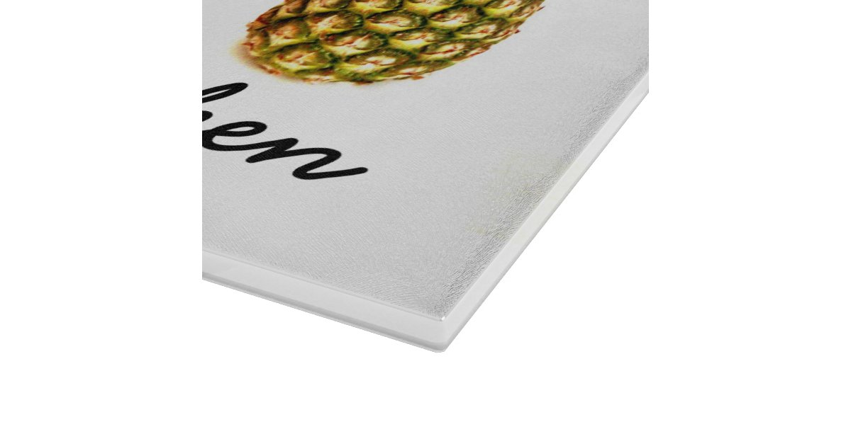 Personalized glass cutting board with pineapples zazzle - Tempered glass cutting board personalized ...