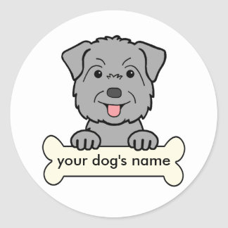 Personalized Glen of Imaal Terrier Classic Round Sticker