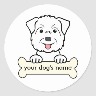 Personalized Glen of Imaal Terrier Round Stickers