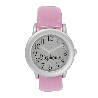 Personalized Glitter-Look Watches