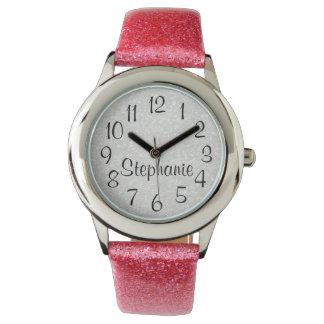 Personalized Glitter-Look Wrist Watch