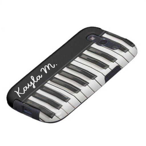 Personalized Glossy Piano Keys Samsung Galaxy SIII Covers