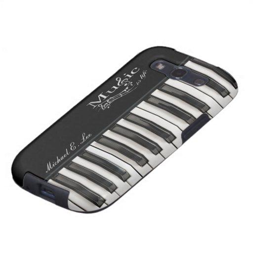 Personalized Glossy Piano Keys Samsung Galaxy SIII Case