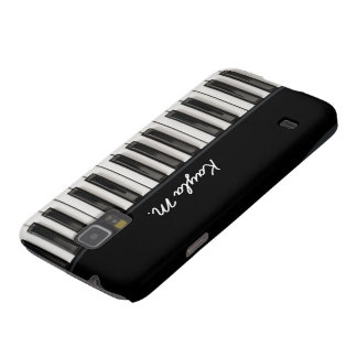 Personalized Glossy Piano Keys Galaxy S5 Case