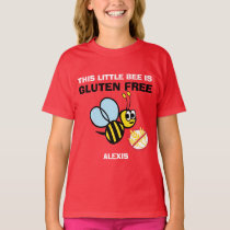 Personalized Gluten Free Bumble Bee Celiac Shirt