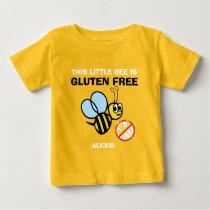 Personalized Gluten Free Bumble Bee Celiac Shirt