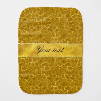 Personalized Gold Foil Giraffe Skin Pattern Burp Cloth