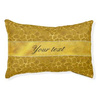 Personalized Gold Foil Giraffe Skin Pattern Pet Bed