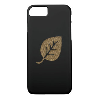 Personalized Gold Leaf Black iPhone 8/7 Case