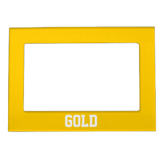 Personalized Gold Magnetic Frame